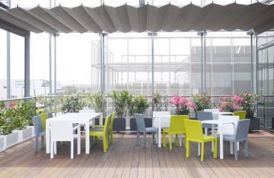 Terraza mobiliario