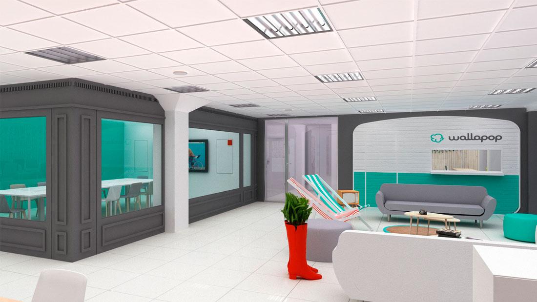Areazero 2 0 dise o oficinas wallapop barcelona - Oficina empleo barcelona ...
