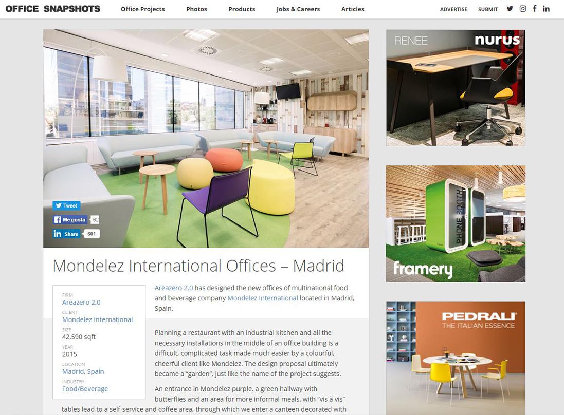 Publicación Mondelez en Office snapshots