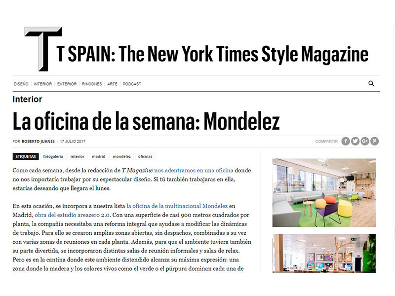 Oficinas Mondelez The New York Times Style Magazine