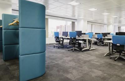 Diseño oficinas planta azul