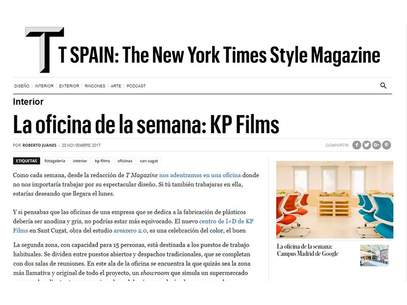 Oficinas KP Films The New York Times Style Magazine